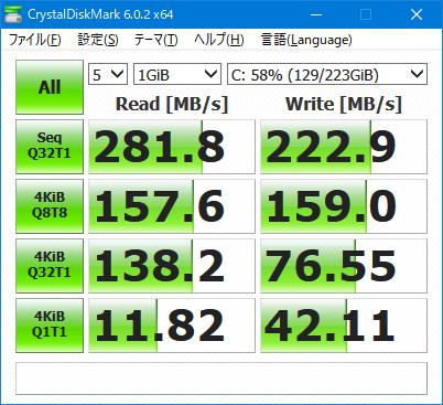 intel SSDSC2CT240A4K5 ベンチ