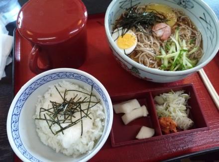 滝沢 安曇野 大釜店 そば冷麺セット01