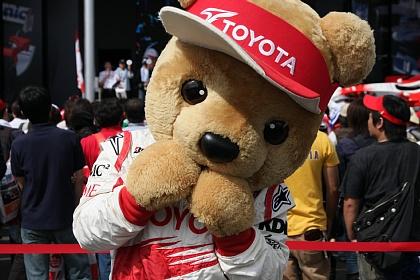F1 富士 日本GP TOYOTAの熊