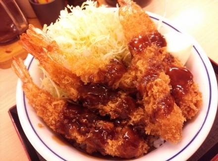 かつや 海老フライ丼 01