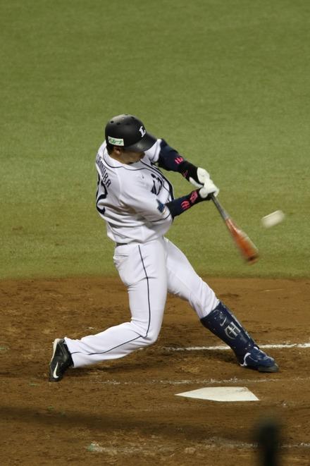 150415 vs楽天 浅村ヒット