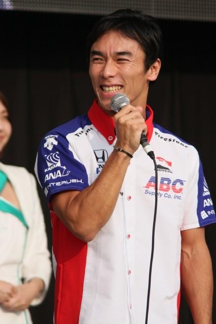 2014年鈴鹿日本GP トークショーの佐藤琢磨