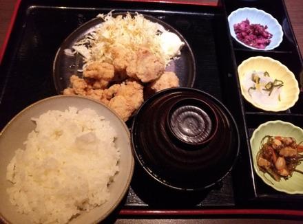千年の宴 ランチ 鶏の唐揚げ定食 01