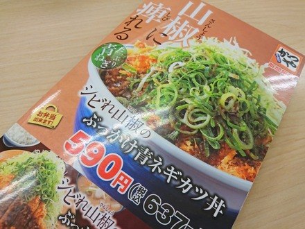 かつや ぶっかけ青ネギカツ丼 01