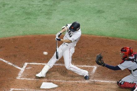 181109 日米野球 秋山翔吾 同点3点適時2塁打