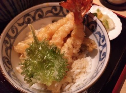 たまプラーザ 半平 海老小天丼セット02