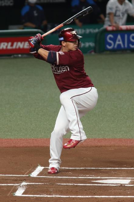 200816 vs楽天 浅村栄斗 ホワイトバランス比較 太陽光