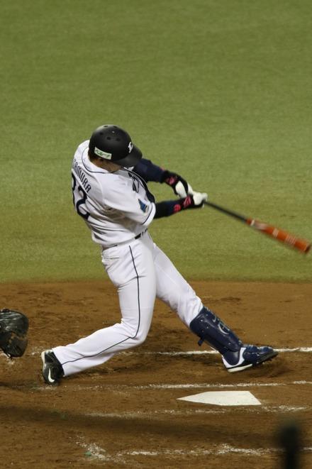 150415 vs楽天 浅村2点適時2塁打