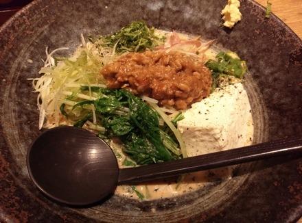 味噌が一番 手作り汲上げ豆腐と夏野菜の冷製味噌麺01