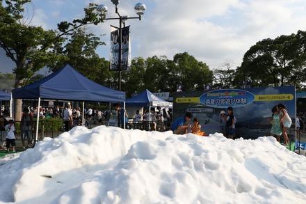 150822 vsロッテ ドーム前の雪