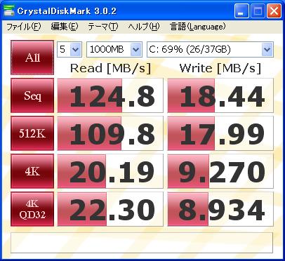 SSD SSDSA2MP040G2R5 ベンチ