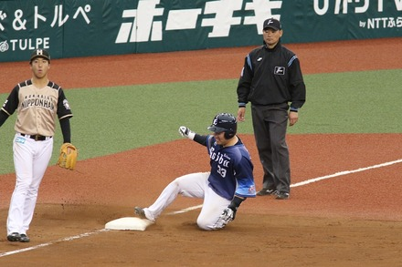 190503 メットライフドーム vs日ハム 山川穂高 適時2塁打