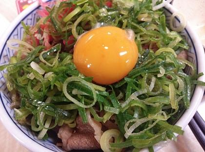 吉野家 牛ねぎ玉丼 02