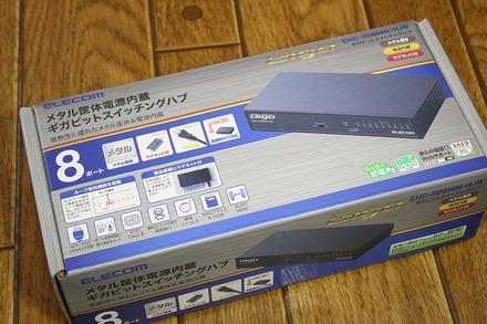 ELECOM スイッチングハブ EHC-G08MN-HJB 01