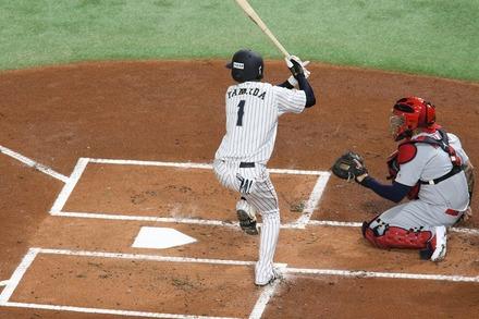 181109 日米野球 山田哲人