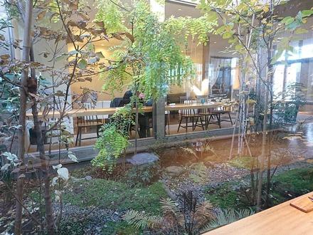恵比寿初代 鷺沼店 平日ランチ時の中庭