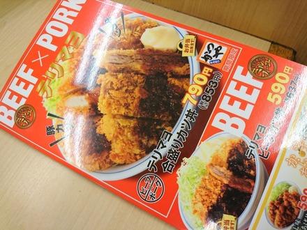 かつや テリマヨ合盛りカツ丼 01