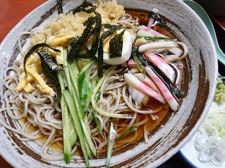 中野 松屋 冷やしタヌキ蕎麦 01