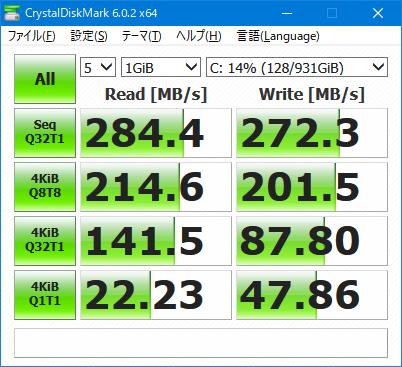 Samsung MZ-77E1T0B+SATA2.0ベンチ