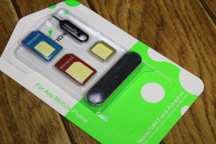 LENTION Nano SIM MicroSIM変換アダプター5点セット