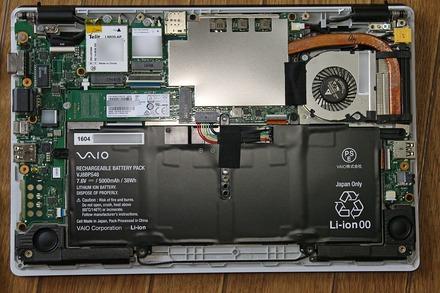 VAIO S11 SSD交換 分解 05