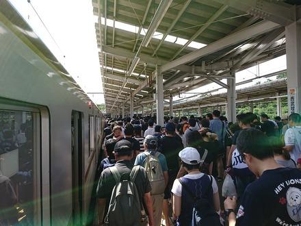 180917 vsSB 西武球場前駅