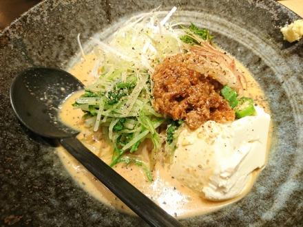 中野 味噌が一番 豆腐と夏野菜の冷製味噌麺 02