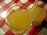 白ワインの北限の桃ジュース割り