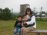 ママと3人で