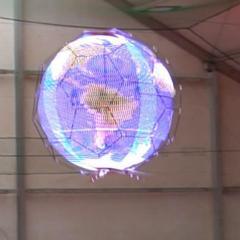 世界初! NTTドコモ「浮遊球体ドローンディスプレイ」を開発