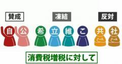 """2分でわかる""""消費税増税""""各党の公約"""