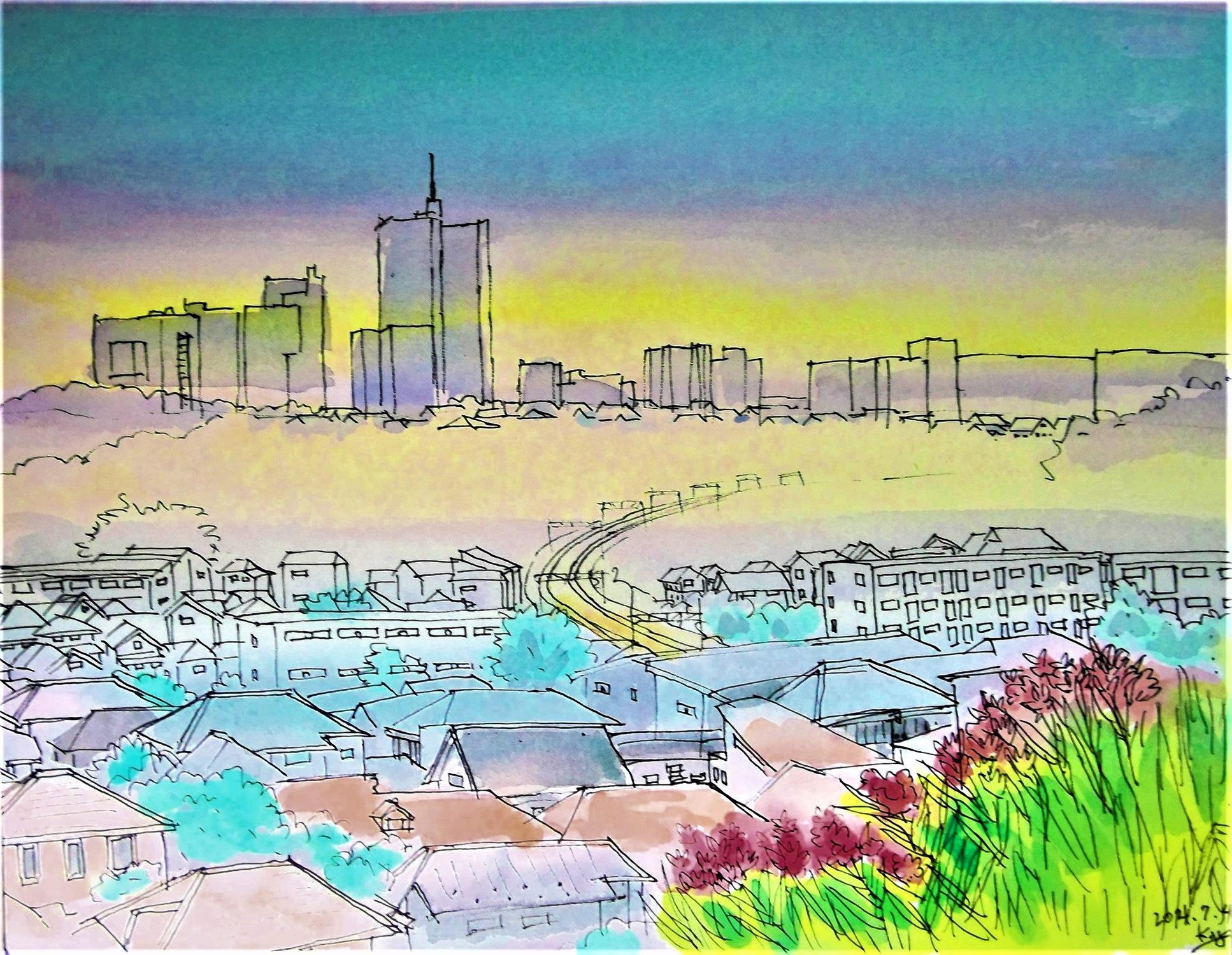 東玉川学園8丁目より 2021.7-8