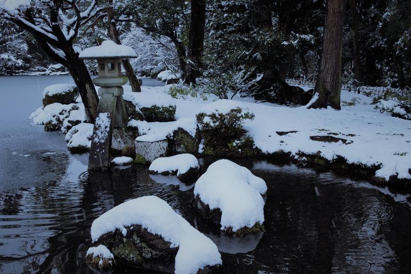真冬の兼六園