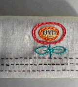 ティッシュケース刺繍図案
