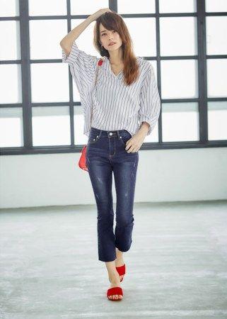 低身長女性低い服装レディースファッションコーデ2018コーディネート