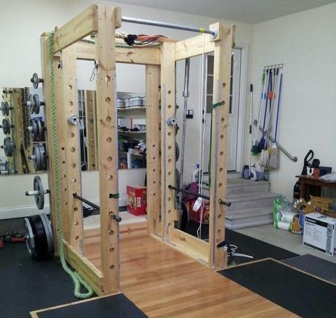 Selfmade-Power-Rack-for-Home-Gym