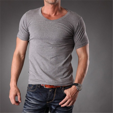 RL-Fit-Slim-Fit-Plain-t-shirts-Men-V-Quality-2019-Summer