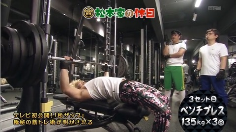 松本人志の筋肉について