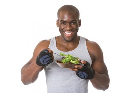 a-man-eating-a-salad-after-a-workout