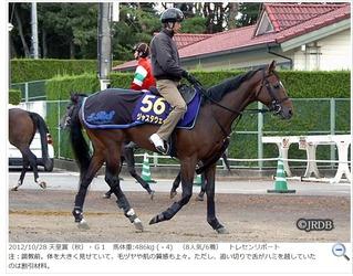 ジャスタウェイ2012年天皇賞秋