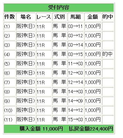 28阪神11馬単