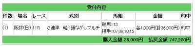 日阪神11レース