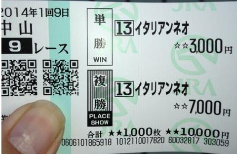 弥生賞【2014年】中山競馬場で田辺って叫びましょう!!