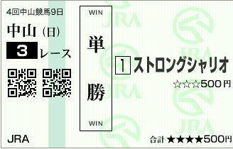 明日の自信の勝負レース【2012年9月30日】中山3レース