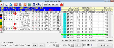 8月23日札幌9R_バケモン買い目