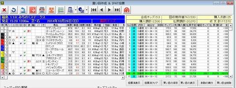 バケモン_20141026福島11R