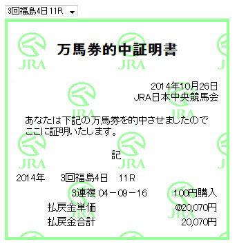 万馬券0141026_福島11R