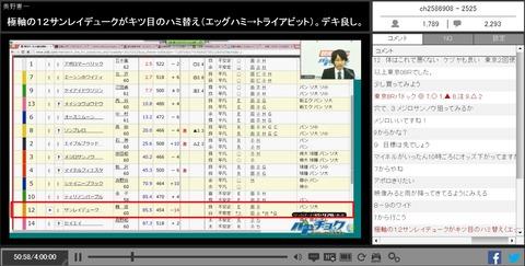 14年10月13日東京8R東京JS単勝万馬券推奨