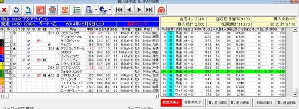 バケモン_20141206中山10R