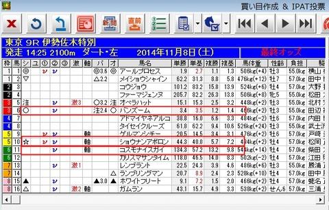 バケモン_20141108東京9R